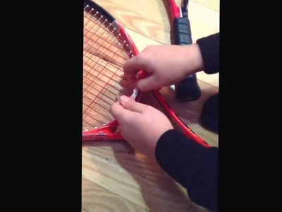 Rainbow Loom tennis string shock absorber. First great invention by Quentin