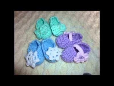 Scarpine all'uncinetto per neonati