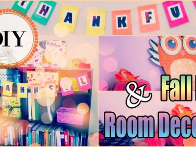 Thanksgiving.Fall DIY Room Decor Ideas 2015