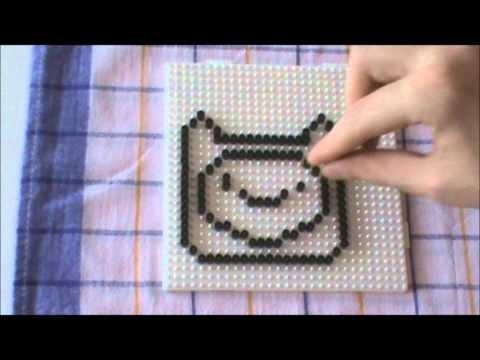 Bügelperlen Vorlage Cartoon Series #3 Finn Perler Beads Pattern