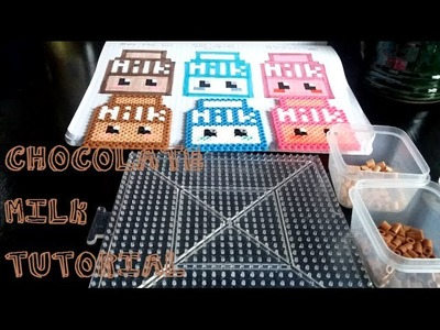 Chocolate Milk. perler bead tutorial