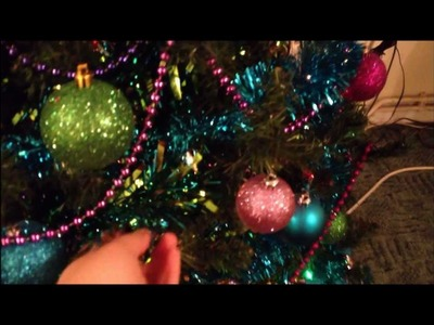 Christmas decorations - table centrepiece and bauble garland