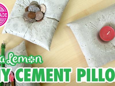 DIY Cement Pillow with Sea Lemon - HGTV Handmade