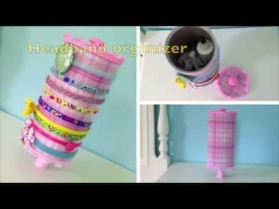 DIY CRAFTS :How to make a headband organizer