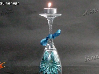 DIY Easy Candles Centerpiece Table Decoration Idea | JK Arts 730