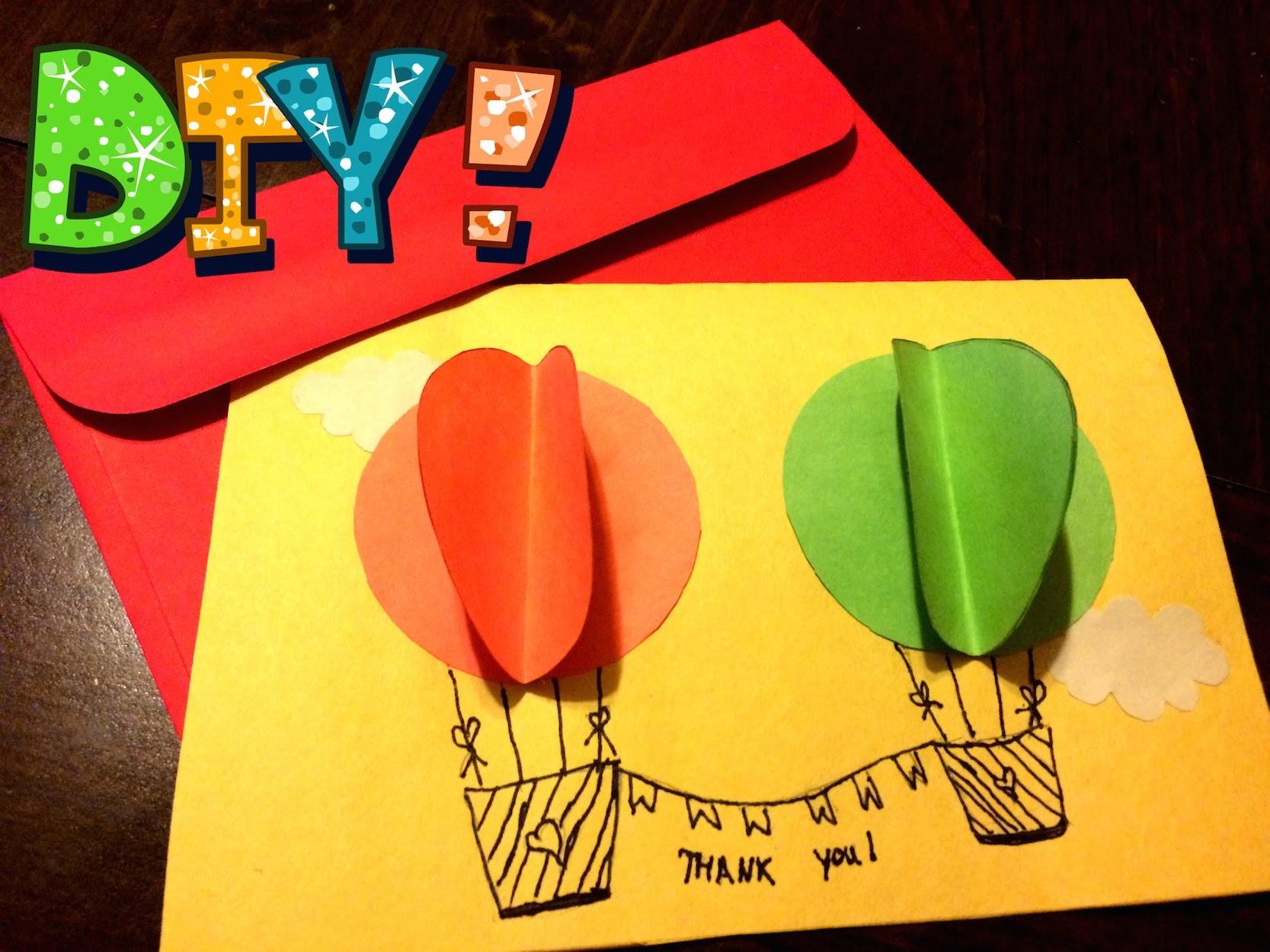 "DIY: Fancy ""Thank You"" Handmade Card!!! Easy To Follow!!! Do It Yourself!!!"