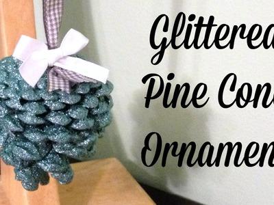 DIY Glitter Pine Cone Ornaments with Krylon Glitter Blast