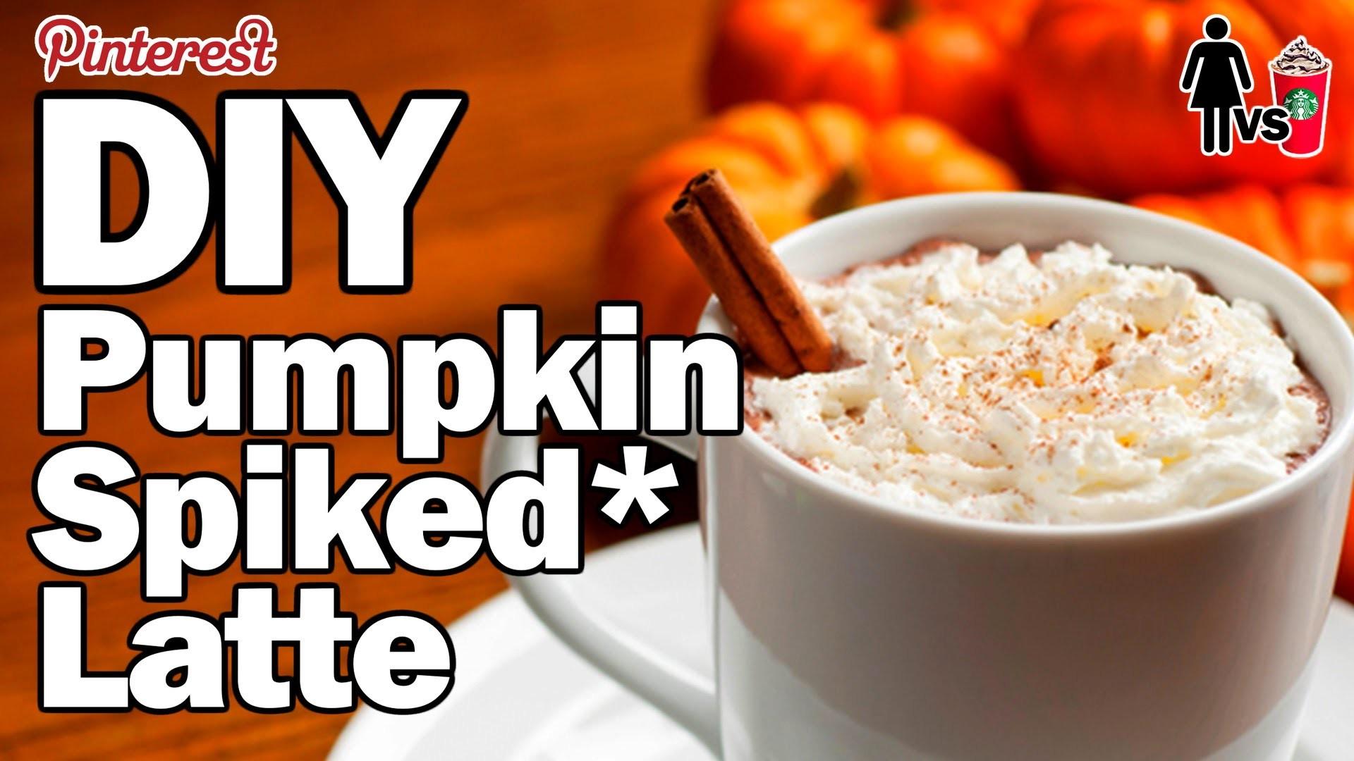DIY Pumpkin *Spiked Latte - Corinne vs Starbucks Ep.1
