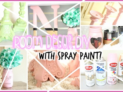 DIY Room Decor with Spray Paint + CHANNEL UPDATES 2015 | Nikki G