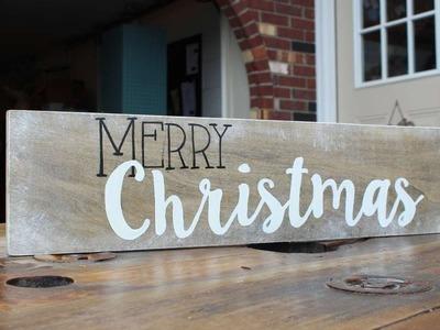 How To Make A Merry Christmas Decor Sign - DIY Home Tutorial - Guidecentral