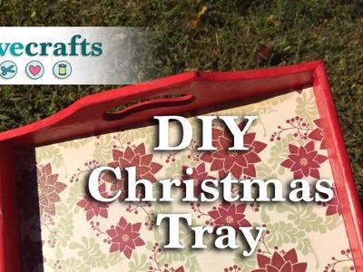How to Make a Mod Podge Christmas Tray