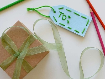 How To Make A Wool Gift Tag - DIY Crafts Tutorial - Guidecentral