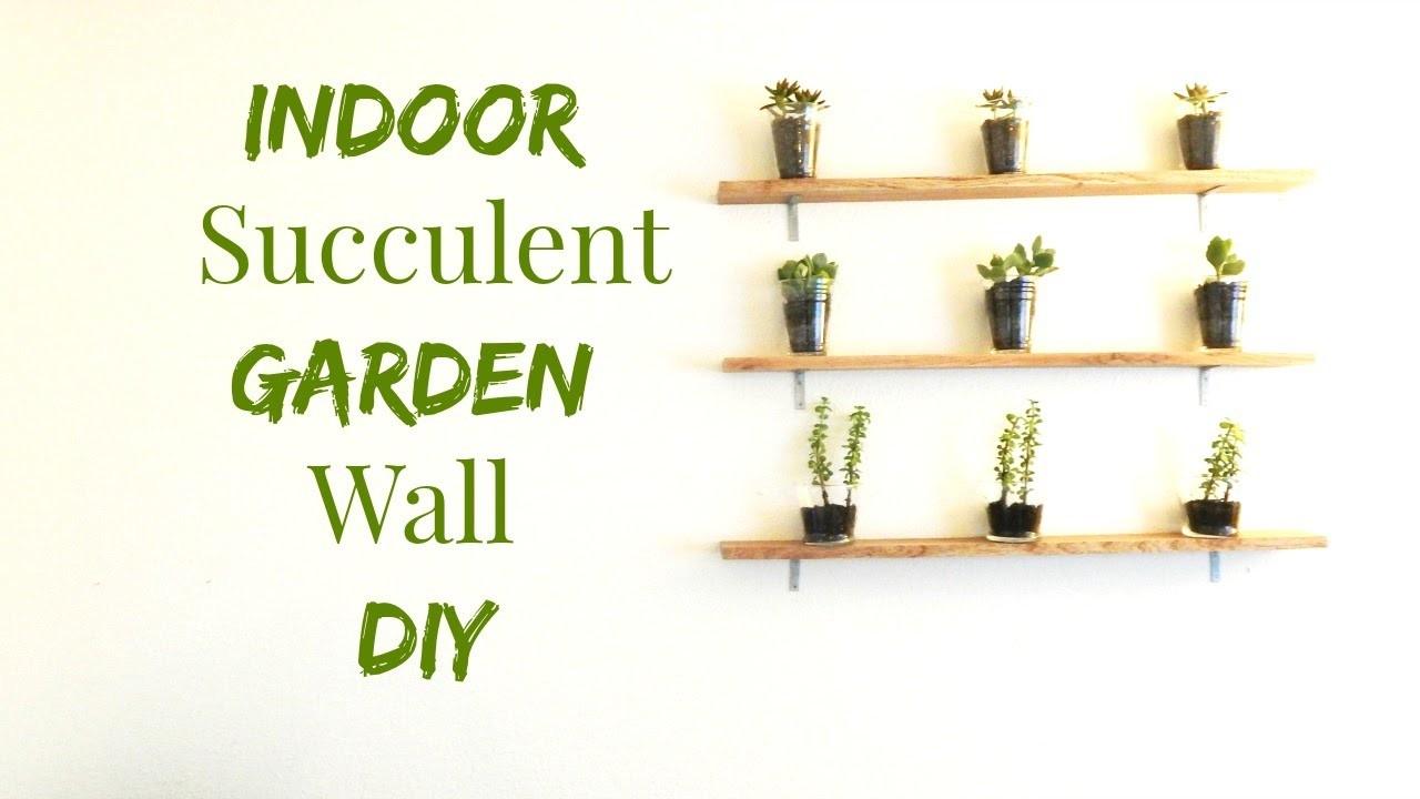 How to Make An Indoor Succulent Garden- Wall Art DIY- Minimalist Home Decor