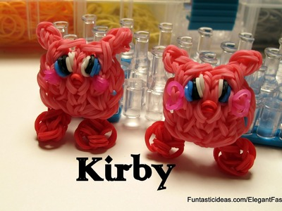 Kirby charm - How to Rainbow Loom design-Character Series