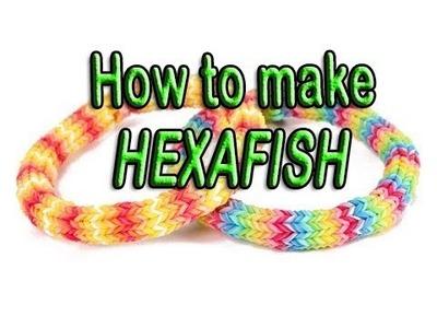 New Design, HEXAFISH, Bracelet, Rainbow Loom, Wonder Loom, Crazy Loom