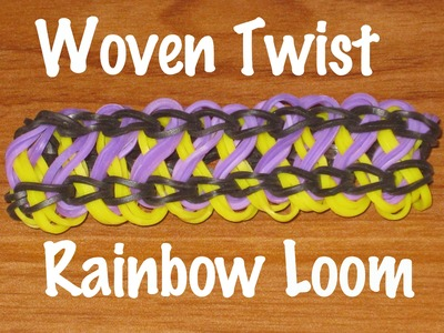 New how to make a woven twist rainbow loom bracelet
