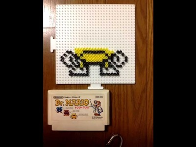 Perler Beads,Dr.Mario Yellow virus build