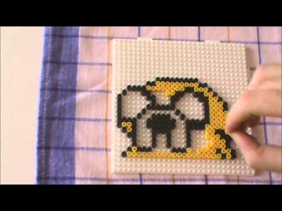 Perler Beads Pattern Cartoon Series #2 Jake the Dog Adventure Time Bügelperlenbild