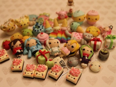 Polymer Clay Charm Update #9: mini Christmas edition
