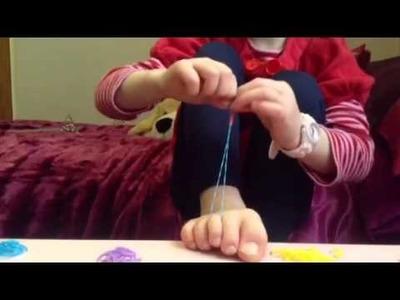 Rainbow loom anklets