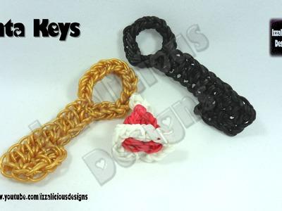 Rainbow Loom (Christmas.Xmas) Santa Key Charm - loom-less.hook only