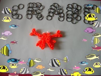 Rainbow loom-crabe-en francais-