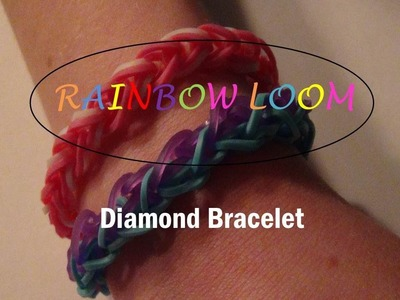 Rainbow Loom--How to make the Rainbow Loom Diamond Pattern Bracelet (Beginner Level)