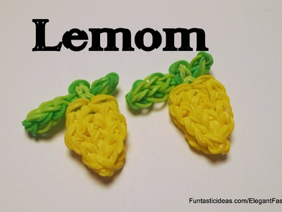 Rainbow Loom Lemon charm - How to - Food Series.Emoji.Emoticon