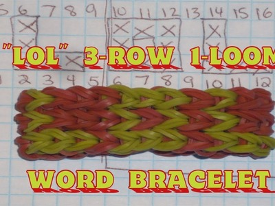 "Rainbow Loom® ""LOL"" Name Bracelet Tutorial"