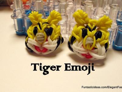 Rainbow Loom Tiger Emoji.Emoticon Face Charm - How to