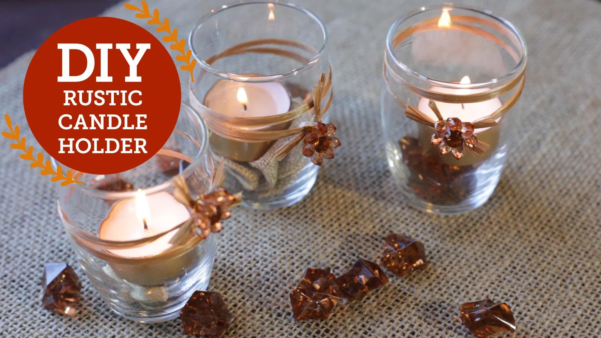 Rustic Candle Holder DIY Decorations   BalsaCircle.com