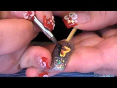 ☆★Acrylic nail tutorial - 3D butterfly ★☆