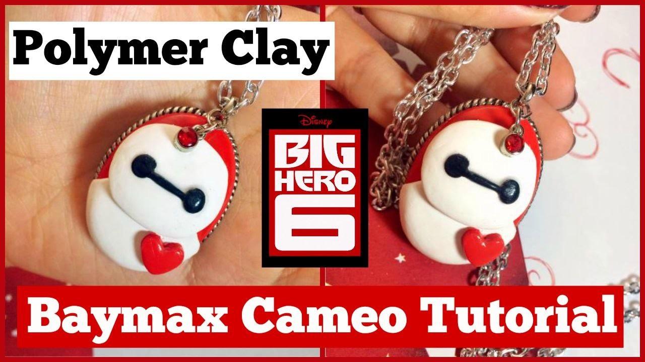 BIG HERO 6 Collab: Polymer Clay Baymax Cameo Necklace Tutorial!