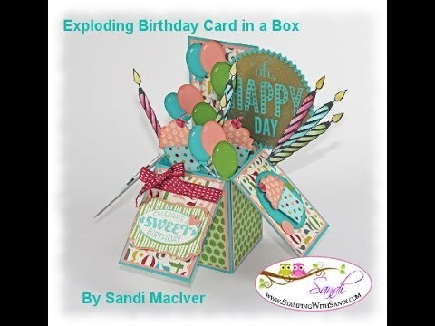 Card in a Box Video #1 by Sandi MacIver @ Stamping with Sandi