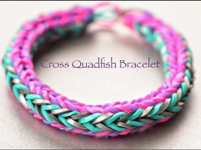 Cross Quadfish Rainbow Loom Bracelet