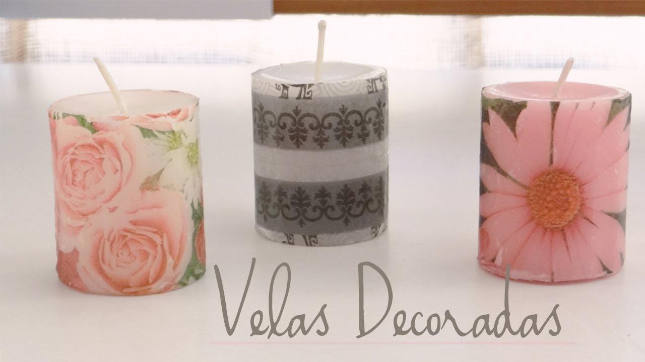 Decoración de velas con servilletas