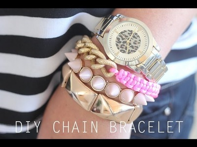 DIY GOLD CHAIN WOVEN FRIENDSHIP BRACELET {HELLOBERRY INSPIRED}