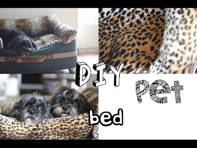 DIY: homemade pet bed. couch [with a suitcase]