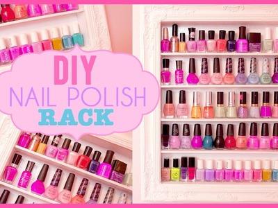 DIY Shabby Chic Nail Polish Rack | Room Inspiration
