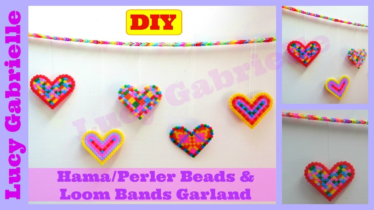 DIY Tutorial: Hama.Perler Beads & Loom Bands Garland Tutorial | Lucy Gabrielle