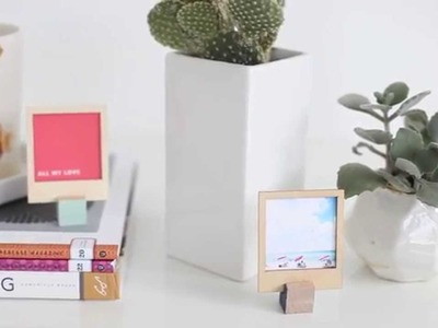 DIY Wooden Polaroid Displays