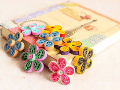 Dual color malaysian flower - Quilling Malaysian flower - How to make Beautiful Quilling Flower