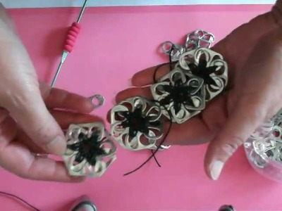 Flowers made from Can tabs. .CreativeHolmez01