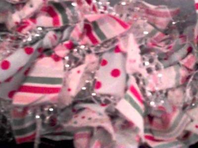 "Handmade ""Christmas Rag Wreath"""