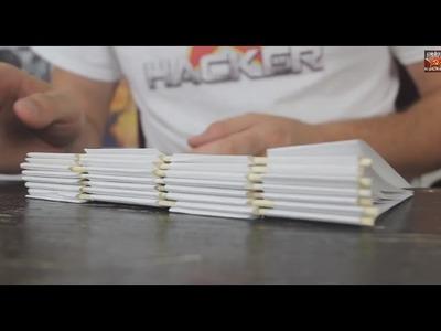 Homemade Piano Hinge Notebook - Back to School Life Hack