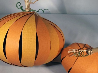 How To Create A 3D Paper Pumpkin - DIY Crafts Tutorial - Guidecentral