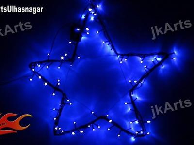 HOW TO: DIY Star with LED light ( Christmas. Diwali Decoration ) JK Arts 438