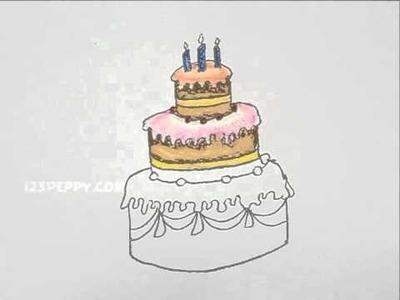 How to Draw a Wedding Cake