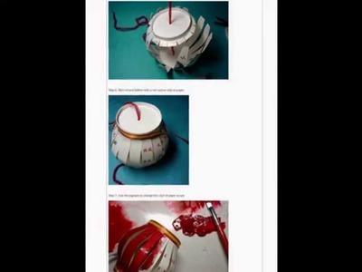 How to use paper cups to make a Chinese red lantern