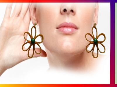 Paper quilling make beautiful earrings